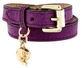 Mulberry Double Wrap Charm Bracelet
