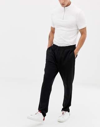 Selected tracksuit joggers in slim fit-Black