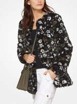 Michael Kors Floral Faux-Fur Jacquard Jacket