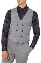 Topman Charlie Casely-Hayford x Skinny Fit Check Suiting Vest