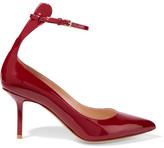 Francesco Russo Patent-leather Pumps - Burgundy