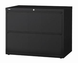 Nixon 2-Drawer Lateral Filing Cabinet Symple Stuff Color: Black