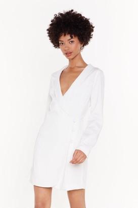 Nasty Gal Womens The Power Of Me Satin Blazer Dress - White - 6