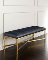 Massoud Toma Crocodile-Embossed Bench