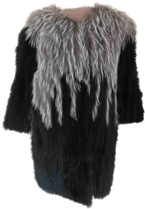 Diane von Furstenberg Black Fur Coat for Women