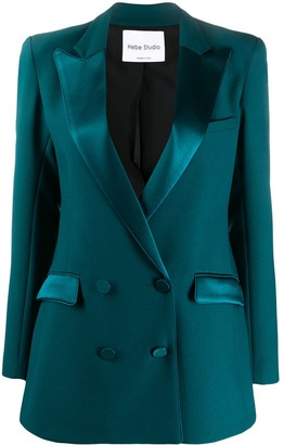 Hebe Studio Fitted Double-Breasted Blazer
