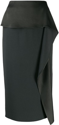 Rochas pencil skirt with draped detail