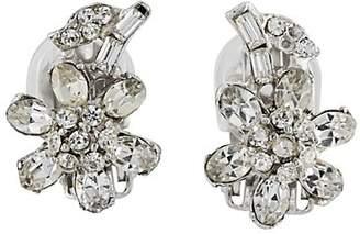 Loren Stazia Women's Flower Clip-On Earrings - Silver