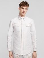 Calvin Klein Collection Placed Jacquard Denim Overshirt