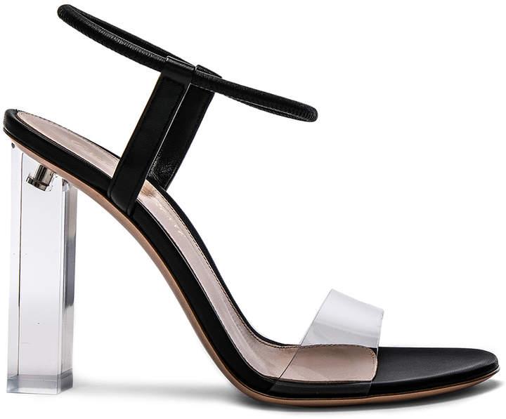 Gianvito Rossi Leather & Plexi Hanne Sandals