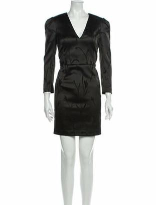 Veronica Beard V-Neck Mini Dress Black