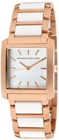 Kenneth Jay Lane Women's KJLANE-1612 White Dial Rose Gold Ion-Plated Stainless Steel and White Resin Watch