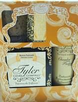Tyler Candle Gift Set II - Dolce Vita - 11oz Prestige Candle, 9oz Chambre Room Perfum, 2oz Votive Candle, Glass Votive Holder