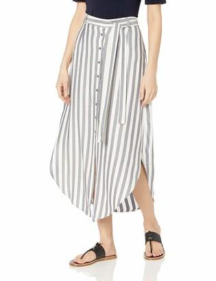 BB Dakota Womens Stripe I Like Rayon midi Skirt