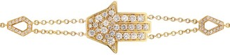 Netali Nissim Yellow Gold and Diamond Protected Hamsa Bracelet