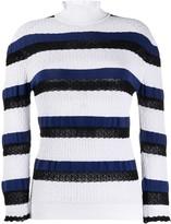 Chloé striped turtleneck jumper