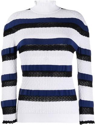 Chloé Striped Turtleneck Jumper