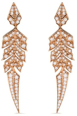 Stephen Webster 18kt rose gold Magnipheasant diamond pave short earrings