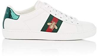 Gucci Women's New Ace Leather Sneakers - White