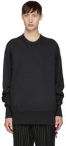 Julius Grey Distressed Sweatshirt