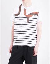 Neil Barrett Abstract Breton Cotton-jersey T-shirt