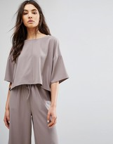 NATIVE YOUTH Minimal Boxy Top With Kimono Sleeves Co-Ord