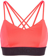 Rebecca Minkoff Damaris neon stretch-jersey sports bra