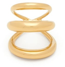 Charlotte Chesnais Echo Triple-band 18kt Gold-vermeil Ring - Gold