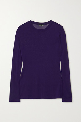 Tom Ford Stretch-knit Top - Purple
