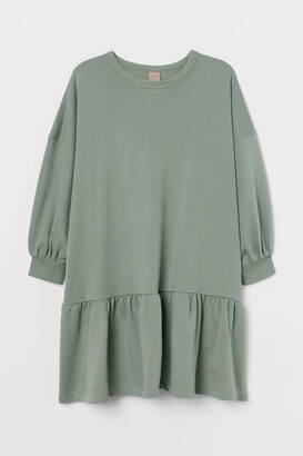 H&M H&M+ Sweatshirt Dress - Green