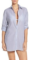 Tommy Bahama Women's Floriana Stripe Cover-Up Shirt