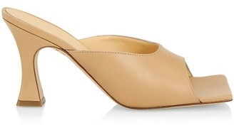 A.W.A.K.E. Mode Marion Square-Toe Leather Mules