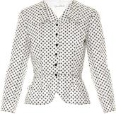 Oscar de la Renta Daisy polka-dot print jacket