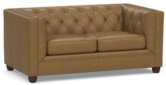 Pottery Barn Chesterfield Square Arm Leather Sofa