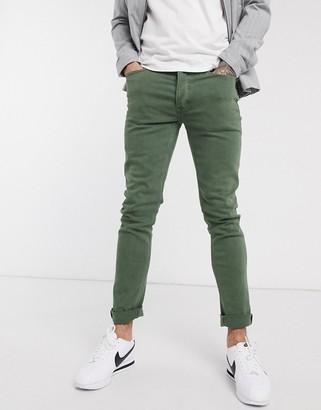 Topman skinny jeans in khaki