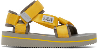 Suicoke Yellow and Black Depa-V2EU3 Sandals