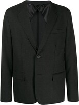 LANVIN single-breasted check blazer