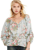 Denim & Supply Ralph Lauren Floral-Print Boho Blouse