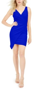 GUESS V-Neck Asymmetrical Dress