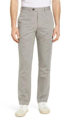 Ted Baker Slim Fit Linen & Cotton Blend Trousers