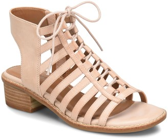 Comfortiva Lace Up Leather Sandals - Blossom