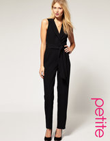 ASOS PETITE Exclusive Tuxedo Jumpsuit With Open Back