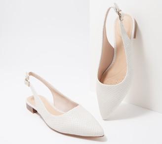 Clarks Leather or Textile Sling-Back Flats - Laina15 Sling