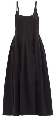 Jil Sander Square-neck Twill Dress - Black