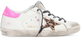 Golden Goose Super-star Leather Upper Leopard Horsy Star Leather Heel