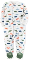 Carter's Dinosaur-Print Fleece Footed Coverall, Baby Boys (0-24 months)