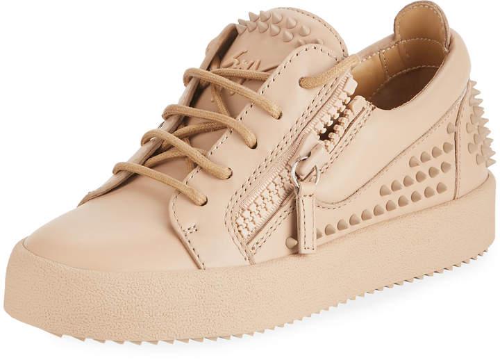 Giuseppe Zanotti Spike Low-Top Leather Sneakers