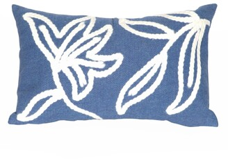 "Liora Manné Visions I Windsor Indoor/Outdoor Pillow Blue 12""X20"""