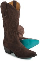 Lane Boots Embossed Applique Cowboy Boots - Snip Toe (For Women)