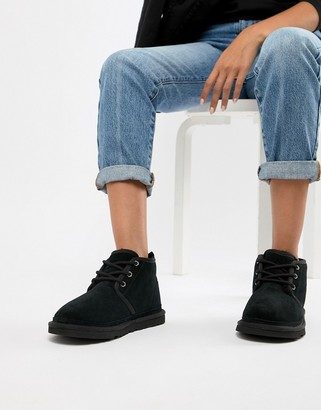 UGG Neumel Black Lace Up Ankle Boots